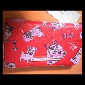 New Betsey Johnson's Pug Wallet.